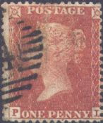 1855 1d Red SG24 Plate 7 'PL'